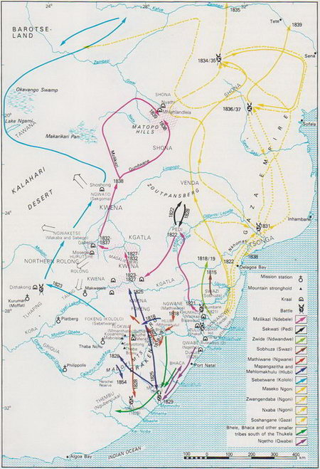 African Migration of Tribes 1818 - 1835